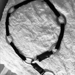 Black and chrome mod hip belt
